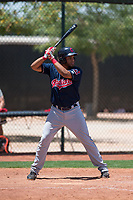 Cleveland Indians outfielder Cristopher Cespedes (24) at bat during an Extended Spring Training game against the Arizona Diamondbacks at the Cleveland Indians Training Complex on May 27, 2018 in Goodyear, Arizona. (Zachary Lucy/Four Seam Images)