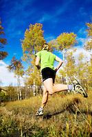 Trail Running, Grand Teton National Park, Wyoming