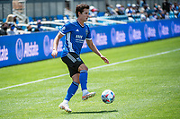 SAN JOSE, CA - APRIL 24: Carlos Fierro #7 of the San Jose Earthquakes controls the ball during a game between FC Dallas and San Jose Earthquakes at PayPal Park on April 24, 2021 in San Jose, California.