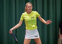 Wateringen, The Netherlands, December 8,  2019, De Rhijenhof , NOJK juniors 14 and18 years, Finals 18 years: Sophie Schouten (NED)<br /> Photo: www.tennisimages.com/Henk Koster