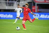 WASHINGTON, D.C. - OCTOBER 11: Josh Sargent #19 of the United States crosses over a ball during their Nations League game versus Cuba at Audi Field, on October 11, 2019 in Washington D.C.