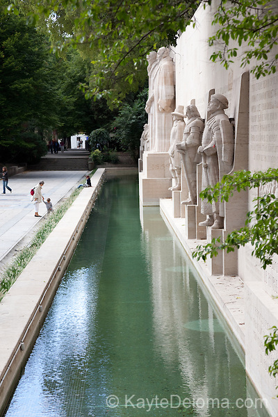 The Reformation Wall in Parc des Bastions, Geneva, Switzerland
