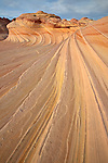 "Swirling rock formation called ""The Second Wave""  in North Coyote Buttes, Arizona"