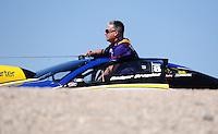 Mar. 31, 2012; Las Vegas, NV, USA: NHRA pro stock driver Rodger Brogdon during qualifying for the Summitracing.com Nationals at The Strip in Las Vegas. Mandatory Credit: Mark J. Rebilas-