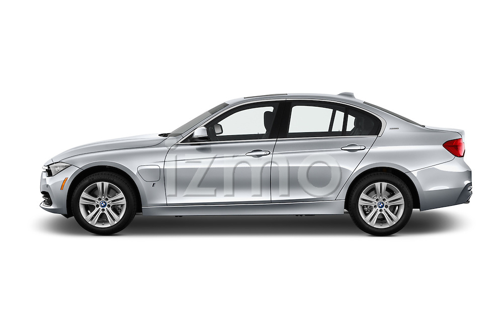 Car Driver side profile view of a 2018 BMW 3-Series 330e-iPerformance 4 Door Sedan Side View