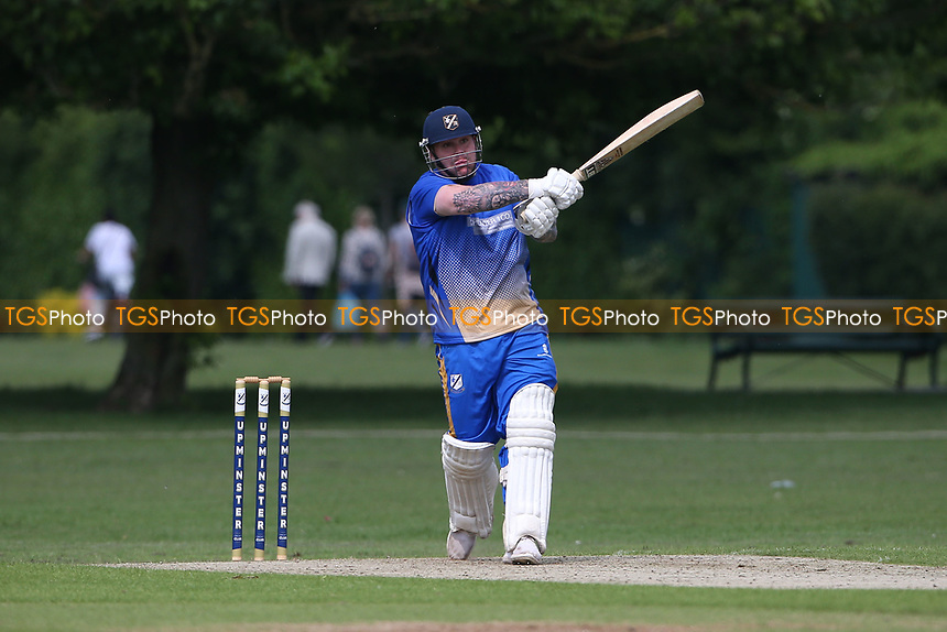 A Ison in batting action for Upminster during Upminster CC vs Fives & Heronians CC, Hamro Foundation Essex League Cricket at Upminster Park on 5th June 2021
