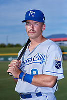 AZL Royals Jimmy Govern (8) poses for a photo before an Arizona League game against the AZL Cubs 1 on June 30, 2019 at Sloan Park in Mesa, Arizona. AZL Royals defeated the AZL Cubs 1 9-5. (Zachary Lucy / Four Seam Images)