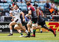 29th May 2021; Twickenham Stoop, London, England; English Premiership Rugby, Harlequins versus Bath; Max Clark of Bath breaking free