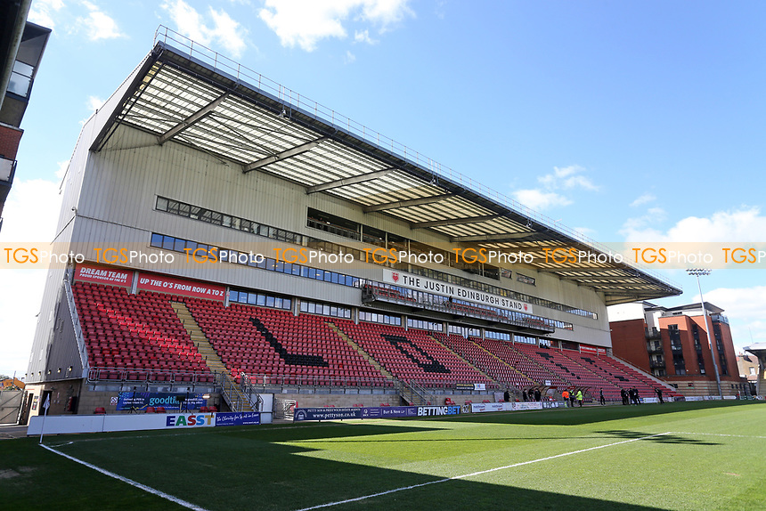 The Justin Edinburgh stand during Leyton Orient vs Walsall, Sky Bet EFL League 2 Football at The Breyer Group Stadium on 5th April 2021