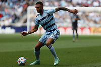 ST. PAUL, MN - AUGUST 21: Khiry Shelton #11 of Sporting Kansas City with the ball during a game between Sporting Kansas City and Minnesota United FC at Allianz Field on August 21, 2021 in St. Paul, Minnesota.