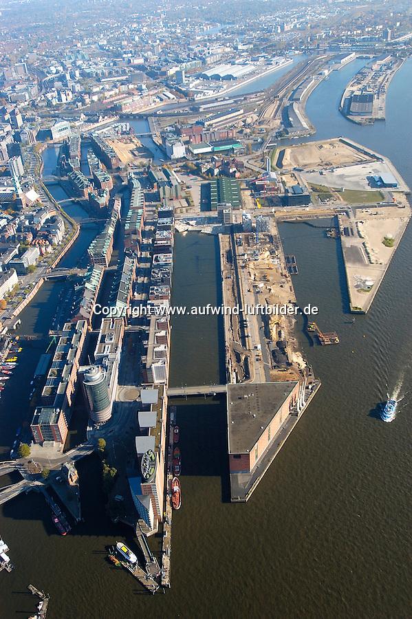 Hafencity:DEUTSCHLAND, HAMBURG, 30.10.2005:Hafencity, Speicherstadt,