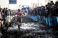 Alice Maria Arzuffi (ITA/777) plowing through the thick mud<br /> <br /> Azencross Loenhout 2019 (BEL)<br />  <br /> ©kramon