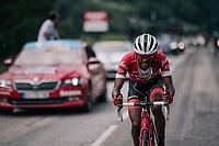 Tsgabu Grmay (ETH/Trek-Segafredo)<br /> <br /> Stage 5: Grenoble > Valmorel (130km)<br /> 70th Critérium du Dauphiné 2018 (2.UWT)