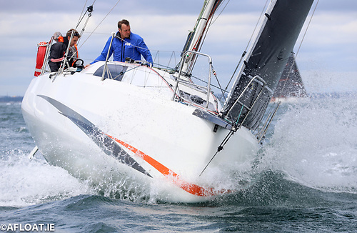 Double-handed Cinnamon Girl from Kinsale is up to sixth overall in the IRC division of the Dun Laoghaire to Dingle Race