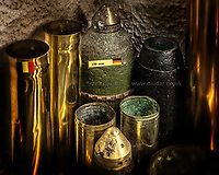 German WWI artillery shells