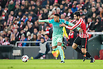 Neymar da Silva Santos Junior (l) of FC Barcelona battles for the ball with Eneko Boveda Altube of Athletic Club during their Copa del Rey Round of 16 first leg match between Athletic Club and FC Barcelona at San Mames Stadium on 05 January 2017 in Bilbao, Spain. Photo by Victor Fraile / Power Sport Images