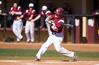 Roger Gonzalez (16) of the Winthrop Eagles at bat against the Kennesaw State Owls at the Winthrop Ballpark on March 15, 2015 in Rock Hill, South Carolina.  The Eagles defeated the Owls 11-4.  (Brian Westerholt/Four Seam Images)