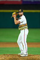 Rochester Red Wings pitcher Dakota Bacus (26) during a game against the Worcester Red Sox on September 2, 2021 at Frontier Field in Rochester, New York.  (Mike Janes/Four Seam Images)