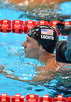 August 01, 2012..Ryan Locht after competing in Men's 200m Backstroke Semifinal at the Aquatics Center on day five of 2012 Olympic Games in London, United Kingdom.