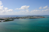 Aerial View of Grand Cayman showing Mangrove Habitats