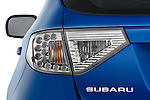 Tail light close up detail view of a 2009 Subaru Impreza Wagon WRX
