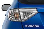 Tail light close up detail view of a 2009 Subaru Impreza Wagon WRX