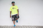Wings for Life Ambassador and Graffiti Artist Bounce poses for a photograph during the Wings for Life World Run on 08 May, 2016 in Yilan, Taiwan. Photo by Victor Fraile / Power Sport Images