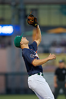 Daytona Tortugas third baseman Nick Senzel (17) catches a popup during the Florida State League All-Star Game on June 17, 2017 at Joker Marchant Stadium in Lakeland, Florida.  FSL North All-Stars defeated the FSL South All-Stars  5-2.  (Mike Janes/Four Seam Images)
