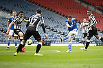 St Mirren v St Johnstone…09.05.21  Scottish Cup Semi-Final Hampden Park <br />Guy Melamed's shot is blocked by Joe Shaughnessy<br />Picture by Graeme Hart.<br />Copyright Perthshire Picture Agency<br />Tel: 01738 623350  Mobile: 07990 594431