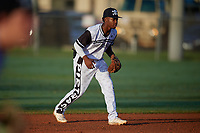 Kahlil Watson (6) during the WWBA World Championship at Terry Park on October 10, 2020 in Fort Myers, Florida.  Kahlil Watson, a resident of Wake Forest, North Carolina who attends Wake Forest High School, is committed to North Carolina State.  (Mike Janes/Four Seam Images)