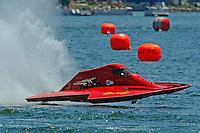 "13-14 June, 2009, APBA Inboards, Walled Lake, Novi, MI. USA.John Shrewbrooks, A-3 ""Sho-Nuff"", 2.5 Litre hydroplane.©F. Peirce Williams 2009 USA.F.Peirce Williams.photography.ref: RAW (.NEF) File Available"