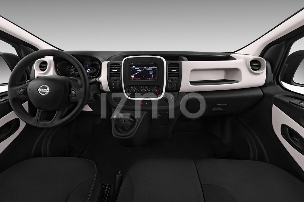 Stock photo of straight dashboard view of 2017 Nissan NV300 Optima 4 Door Cargo Van Dashboard