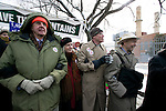Several high profile individuals, (l-r) Wendell Berry, Terry Tempest Williams, Bill Mckibben and Dr. James Hansen march at the Capitol Coal Action in Washington, D.C. - ©Robert vanWaarden ALL RIGHTS RESERVED