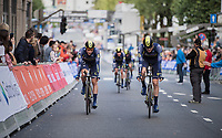 Team Orica-Scott rolling in after the finish<br /> <br /> Men's Team Time Trial<br /> <br /> UCI 2017 Road World Championships - Bergen/Norway