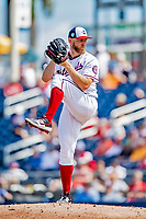 7 March 2019: Washington Nationals starting pitcher Stephen Strasburg on the mound during a Spring Training Game against the New York Mets at the Ballpark of the Palm Beaches in West Palm Beach, Florida. The Nationals defeated the visiting Mets 6-4 in Grapefruit League, pre-season play. Mandatory Credit: Ed Wolfstein Photo *** RAW (NEF) Image File Available ***