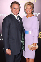 """NEW YORK, NY - FEBRUARY 04: Hugh Bonneville, Lulu Williams at the New York Premiere Of Columbia Pictures' """"The Monuments Men"""" held at Ziegfeld Theater on February 4, 2014 in New York City, New York. (Photo by Jeffery Duran/Celebrity Monitor)"""