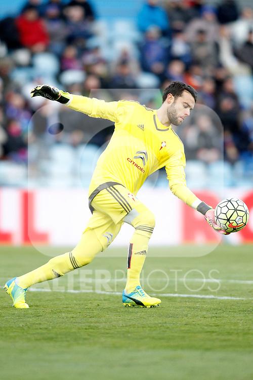 Celta de Vigo's Sergio Alvarez during La Liga match. February 27,2016. (ALTERPHOTOS/Acero)