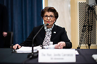 Jovita Carranza, administrator, United States Small Business Administration (SBA), arrives before a US Senate Small Business and Entrepreneurship Committee hearing in Washington, D.C., U.S., on Wednesday, June 10, 2020. The hearing examines the government's virus relief package that offers emergency assistance to small businesses. <br /> Credit: Al Drago / Pool via CNP/AdMedia
