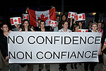 Canadian Youth Delegates express their lack of confidence towards the federal goverment in Canada. On the fourth day of Negotiations in Poznan, Poland, Canada was awarded 4 Fossils of the Day, An award given to the country that obstructs the process of Climate Change negotiations everyday. UNFCCC COP 14 (©Robert vanWaarden ALL RIGHTS RESERVED)