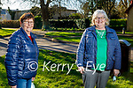 Enjoying a chat after a stroll in Listowel town park on Sunday, l to r: Betty Greaney and Nina Hayes.