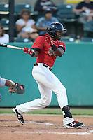 Alex Glenn #6 of the Visalia Rawhide bats against the Stockton Ports at Rawhide Ballpark on May 5, 2014 in Visalia California. Visalia defeated Stockton, 8-6. (Larry Goren/Four Seam Images)