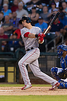 AFL East third baseman Bobby Dalbec (11), of the Mesa Solar Sox and Boston Red Sox organization, follows through on his swing during the Arizona Fall League Fall Stars game at Surprise Stadium on November 3, 2018 in Surprise, Arizona. The AFL West defeated the AFL East 7-6 . (Zachary Lucy/Four Seam Images)