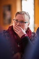 """Mirjam Blumenthal, stellv. Fraktionsvorsitzende des SPD-Neukoelln und Mitglied der Falken am Freitag den 27. Januar 2017 im Anton-Schmaus-Haus der Jugendorganisation """"Falken"""".<br /> Das Anton-Schmaus-Haus wurde in der Vergangenheit mehrfach Ziel von Brandanschlaegen durch Rechte. Mitarbeiter des Anton-Schmaus-Haus und Mitglieder der Falken wurden immer wieder Opfer von Attacken durch Rechte bis hin zu Brandanschlaegen gegen Privatautos, wie bei Mirjam Blumenthal.<br /> 27.1.2017, Berlin<br /> Copyright: Christian-Ditsch.de<br /> [Inhaltsveraendernde Manipulation des Fotos nur nach ausdruecklicher Genehmigung des Fotografen. Vereinbarungen ueber Abtretung von Persoenlichkeitsrechten/Model Release der abgebildeten Person/Personen liegen nicht vor. NO MODEL RELEASE! Nur fuer Redaktionelle Zwecke. Don't publish without copyright Christian-Ditsch.de, Veroeffentlichung nur mit Fotografennennung, sowie gegen Honorar, MwSt. und Beleg. Konto: I N G - D i B a, IBAN DE58500105175400192269, BIC INGDDEFFXXX, Kontakt: post@christian-ditsch.de<br /> Bei der Bearbeitung der Dateiinformationen darf die Urheberkennzeichnung in den EXIF- und  IPTC-Daten nicht entfernt werden, diese sind in digitalen Medien nach §95c UrhG rechtlich geschuetzt. Der Urhebervermerk wird gemaess §13 UrhG verlangt.]"""