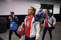 JACKSONVILLE, FL - NOVEMBER 10: Julie Ertz #8 of the United States walks into the stadium during a game between Costa Rica and USWNT at TIAA Bank Field on November 10, 2019 in Jacksonville, Florida.