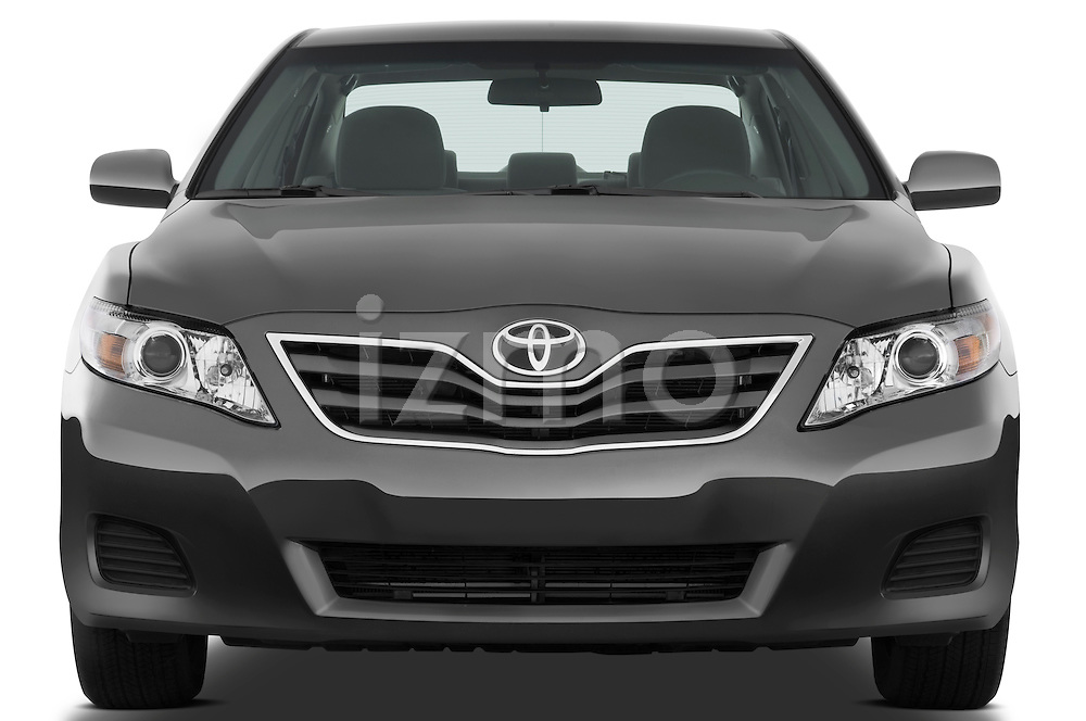 Straight front view of a 2010 Toyota Camry LE