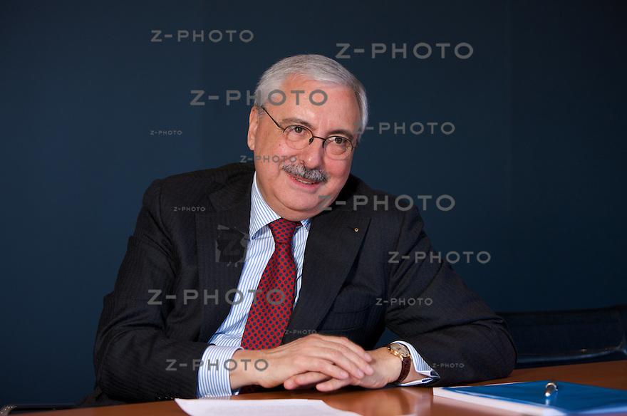 Interview mit Bruno Bettoni, CEO Allreal im Hauptsitz in Zuerich an der Eggbuehlstrasse 15..Copyright © Zvonimir Pisonic
