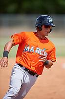 Miami Marlins Jan Mercado (81) during a Minor League Spring Training game against the St. Louis Cardinals on March 26, 2018 at the Roger Dean Stadium Complex in Jupiter, Florida.  (Mike Janes/Four Seam Images)