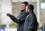 St Johnstone v Hartlepool…22.07.17… McDiarmid Park… Pre-Season Friendly<br />Saints boss Tommy Wright talks with assistant Callum Davidson<br />Picture by Graeme Hart.<br />Copyright Perthshire Picture Agency<br />Tel: 01738 623350  Mobile: 07990 594431