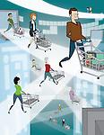 Illustrative representation showing online shopping