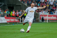 Saturday 20th September 2014  Pictured:  Jonjo Shelvey of Swansea City  <br /> Re: Barclays Premier League Swansea City v Southampton  at the Liberty Stadium, Swansea, Wales,UK